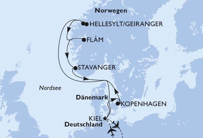 Nordeuropa Route Meraviglia