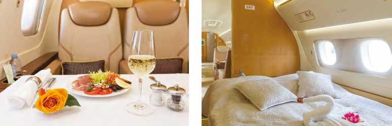 Privates VIP-Flugzeug Innenkabine